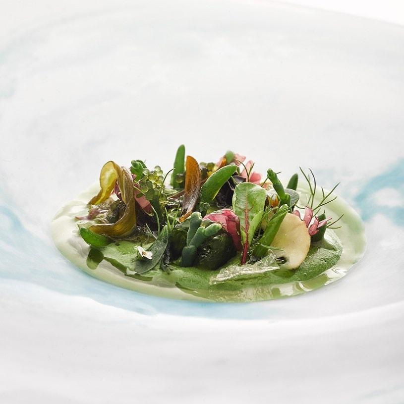 Ensalada del Celler de Can Roca Restaurantes de lujo 2020