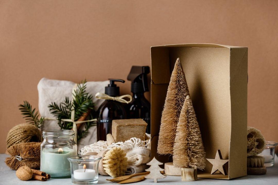 Motivos decoración navideña reciclados