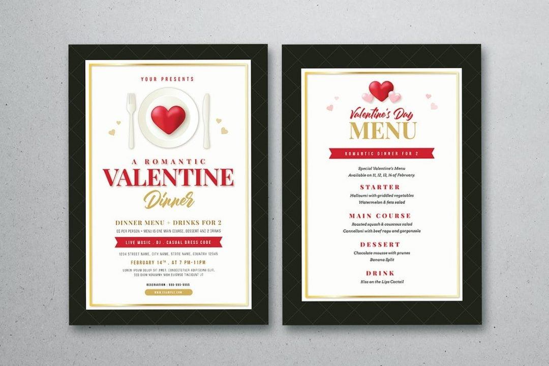 Carta 1 menú San Valentín