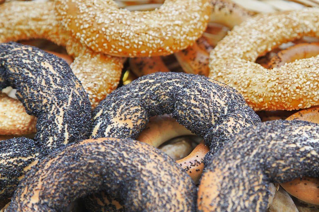 Bagels con semillas de amapola