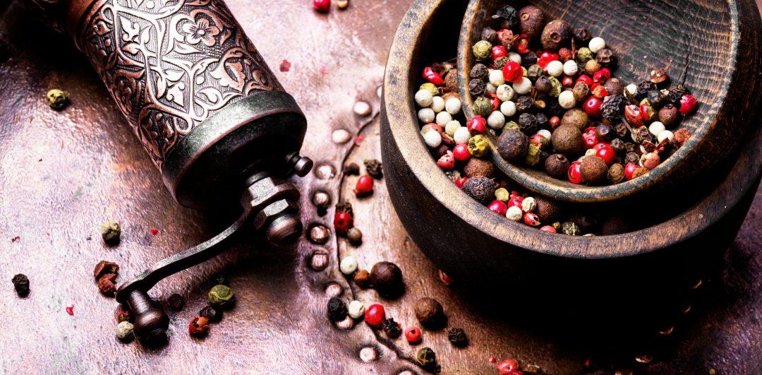Mezcla de pimienta y molinillo