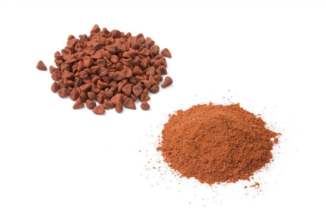 Semillas secas de Achiote