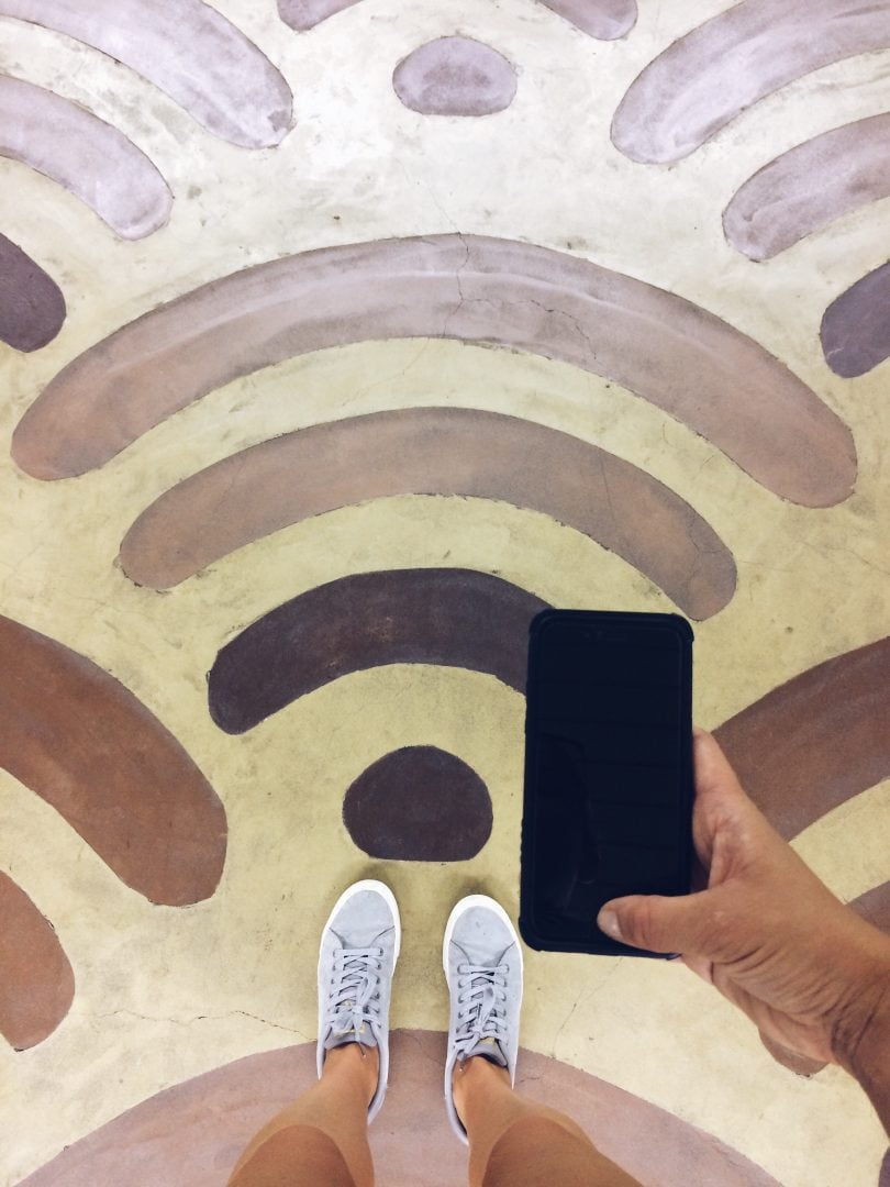 Zona wifi gratis para los clientes del restaurante