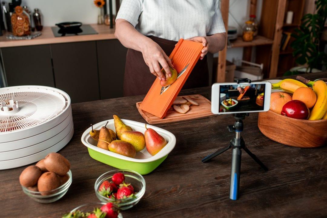 Grabando un video de recetas con el móvil