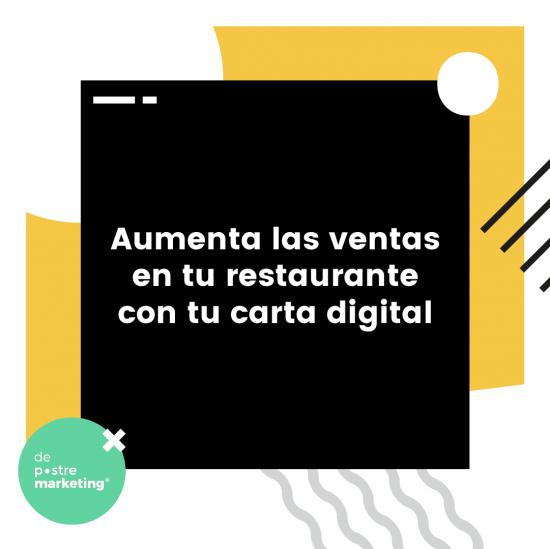 Aumenta las ventas en tu restaurante con tu carta digital